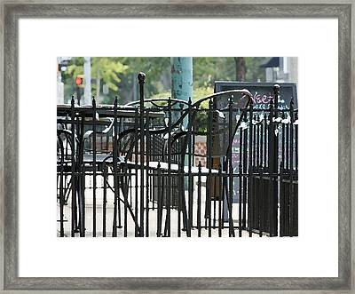 The Painted Cafe Framed Print by Dawn Davis