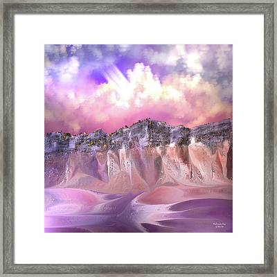 The Painted Sand Rocks Framed Print