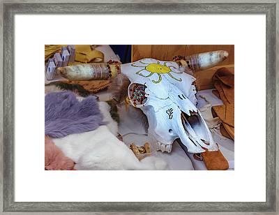 The Painted Skull Framed Print