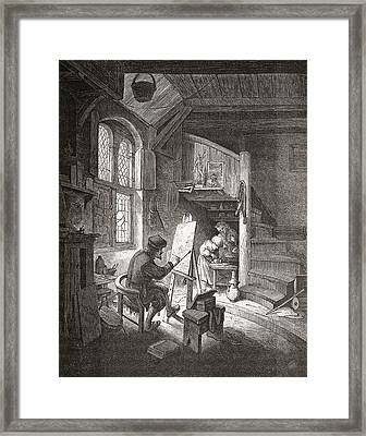 The Painter In His Workshop Framed Print by Vintage Design Pics