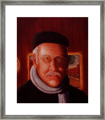 Framed Print featuring the painting The Painter. Self Portrait by Gene Gregory