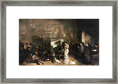 The Painter's Atelier Framed Print by Gustave Courbet