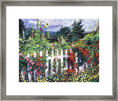 The Painter's Palette Garden Framed Print by David Lloyd Glover