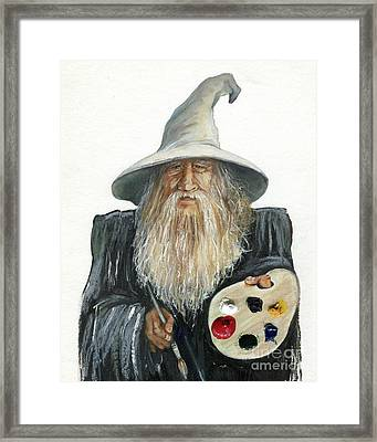 The Painting Wizard Framed Print