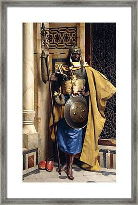 The Palace Guard Framed Print by Ludwig Deutsch
