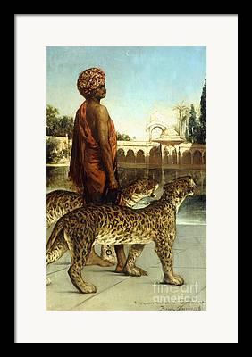 Black Cat Moors Framed Prints