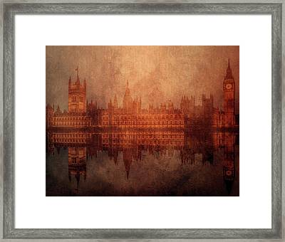 The Palace Of Westminster Framed Print by KaFra Art
