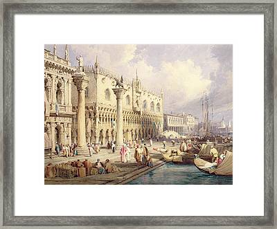 The Palaces Of Venice Framed Print by Samuel Prout