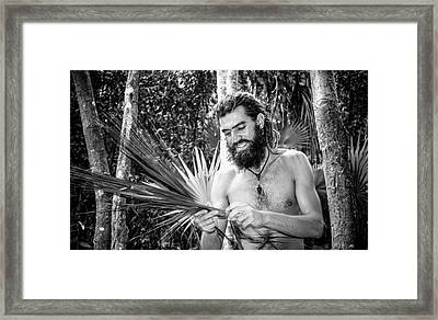 The Palm Frond Weaver Framed Print