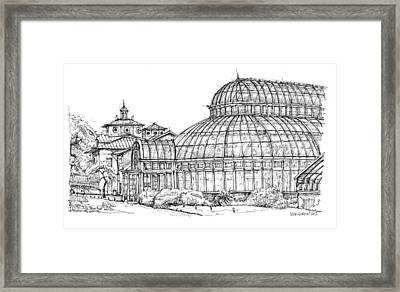 The Palm House In Brooklyn  Framed Print by Building  Art