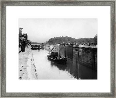 The Panama Canal, Circa 1913 Framed Print by Everett