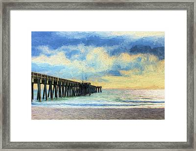 The Panama City Beach Pier Framed Print