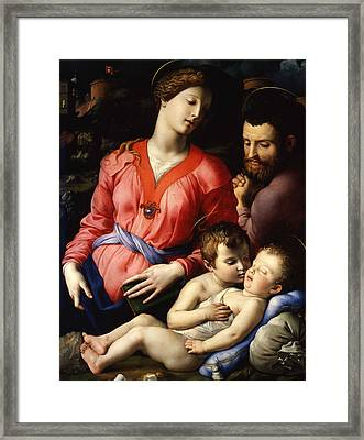 The Panciatichi Holy Family Framed Print by Agnolo Bronzino