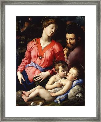 The Panciatichi Holy Family Framed Print by Bronzino