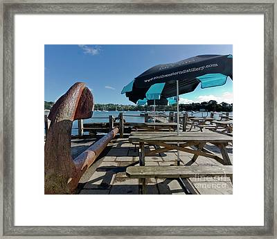 The Pandora Inn Pontoon Cornwall Framed Print by Terri Waters