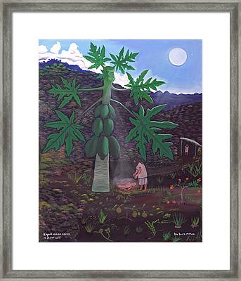The Papaya Nourishes Life Framed Print