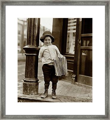 The Paper Boy  Framed Print