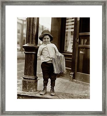 The Paper Boy  Framed Print by Jon Neidert