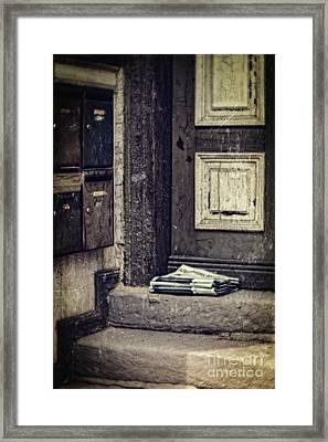 The Paper Boy Was There. Framed Print by Mandy Tabatt