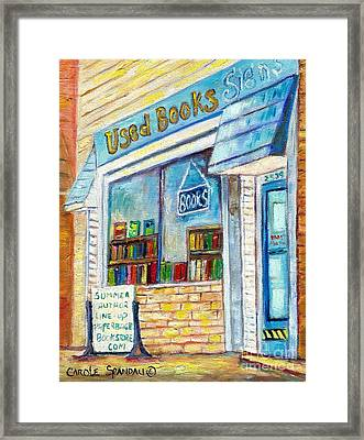 The Paperbacks Plus Book Store St Paul Minnesota Framed Print