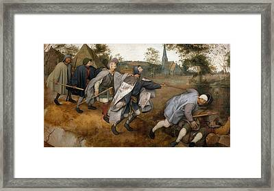 The Parable Of The Blind Framed Print