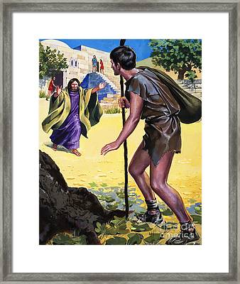 The Parable Of The Prodigal Son Framed Print by English School