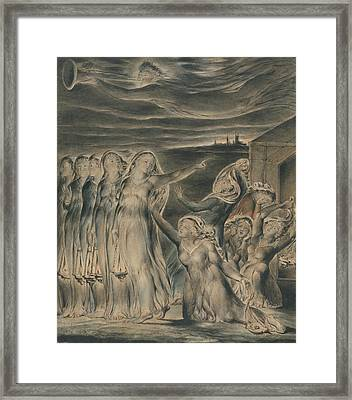 The Parable Of The Wise And Foolish Virgins Framed Print by William Blake