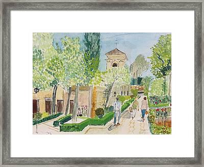 The Parador, Alhambra, Granada Framed Print
