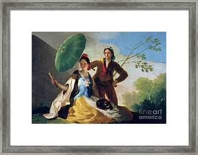 The Parasol Framed Print by Goya