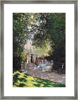The Parc Monceau, 1878  Framed Print