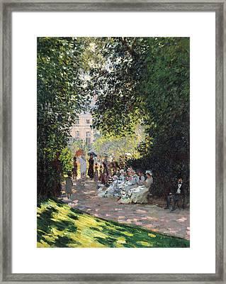 The Parc Monceau Framed Print by Claude Monet