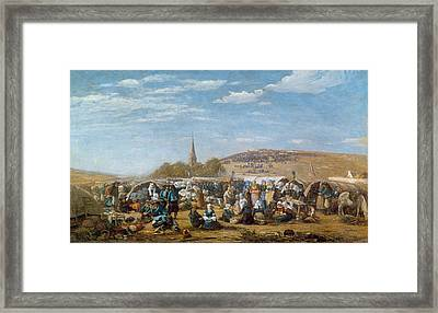 The Pardon Of Sainte Anne La Palud Framed Print by Eugene Louis Boudin