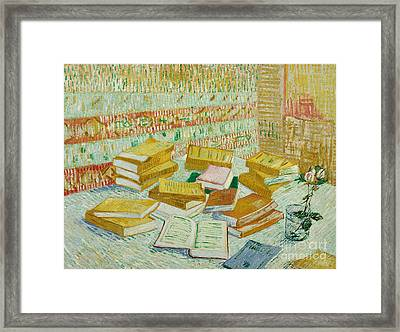 The Parisian Novels Or The Yellow Books Framed Print