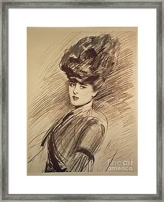 The Parisienne Original Lithograph Framed Print by MotionAge Designs
