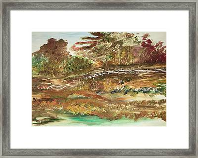 The Park Framed Print by Edward Wolverton