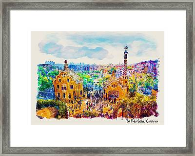 Park Guell Barcelona Framed Print by Marian Voicu