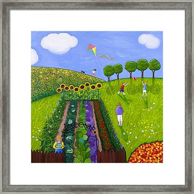 The Park Number 1 Of 3 Framed Print by Barbara Esposito