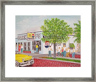 The Park Shoppe Portsmouth Ohio Framed Print by Frank Hunter