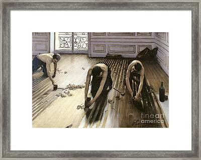 The Parquet Planers Framed Print by Gustave Caillebotte