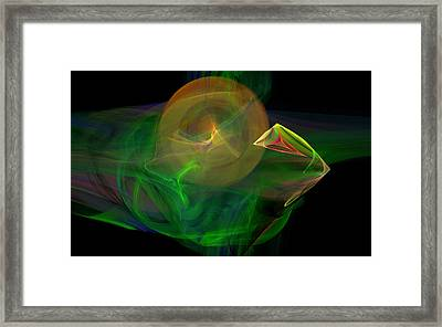 The Parrot By The Harbour Framed Print by Brainwave Pictures