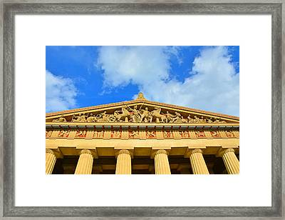 The Parthenon In Nashville Tennessee 2 Framed Print by Lisa Wooten