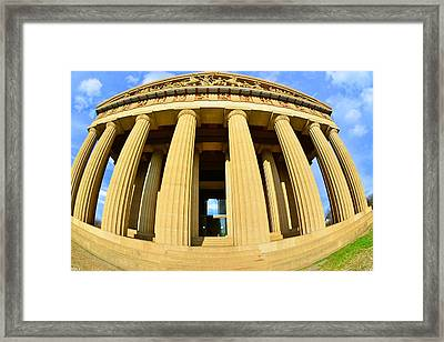The Parthenon In Nashville Tennessee 3 Framed Print by Lisa Wooten