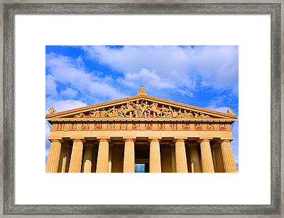 The Parthenon In Nashville Tennessee  Framed Print by Lisa Wooten