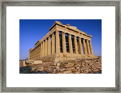 The Parthenon, Its Ancient Colonnades Framed Print