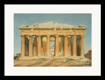 Historic Architecture Paintings Framed Prints