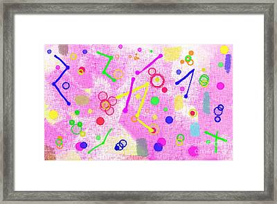 Framed Print featuring the digital art The Party Is Here by Silvia Ganora