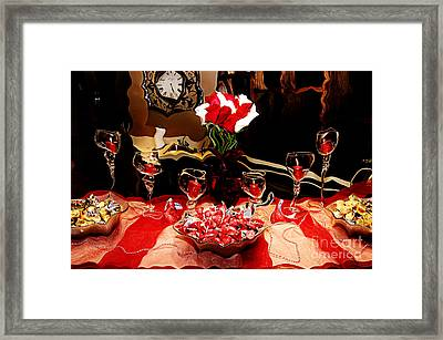The Party Of Love Is Melting Framed Print
