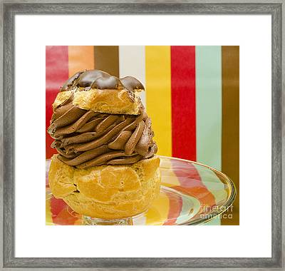 The Party Puff Framed Print by MaryJane Armstrong