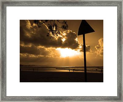 The Pass Byron Bay Framed Print by Edan Chapman
