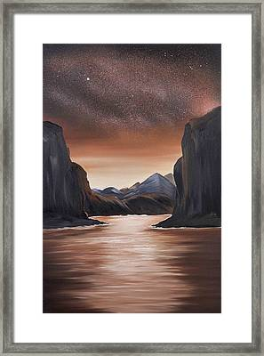 The Passage Beyond The Boundaries Framed Print by Ara  Elena